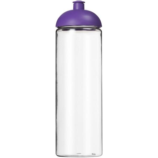 H2O Vibe 850 ml sportovní lahev s kupolovitým víčkem - Průhledná / Purpurová