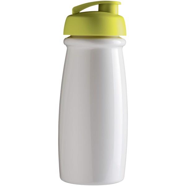 H2O Pulse® Bidón deportivo con Tapa Flip de 600 ml - Blanco / Lima
