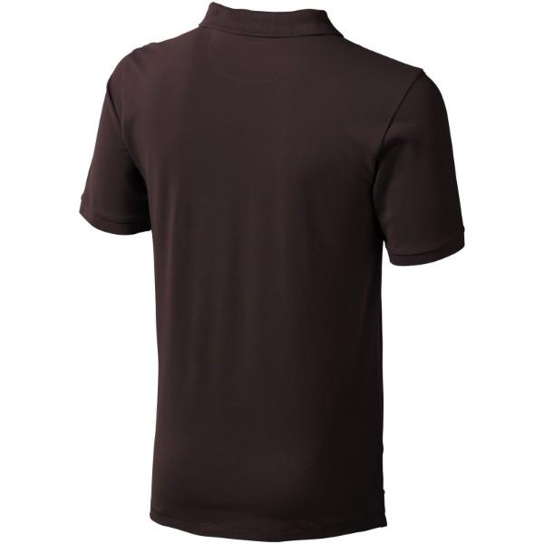 Calgary short sleeve men's polo - Chocolate brown / XXL