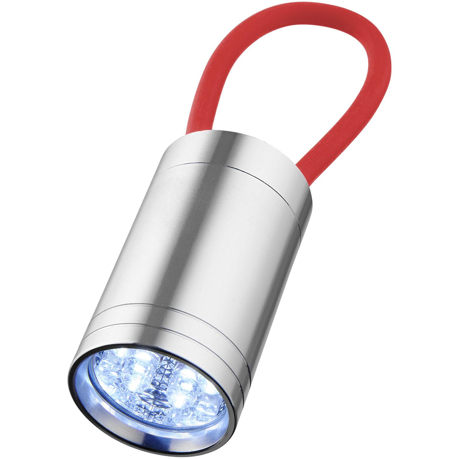 Svítilna Vela se 6 LED a svítícím popruhem - Červená s efektem námrazy
