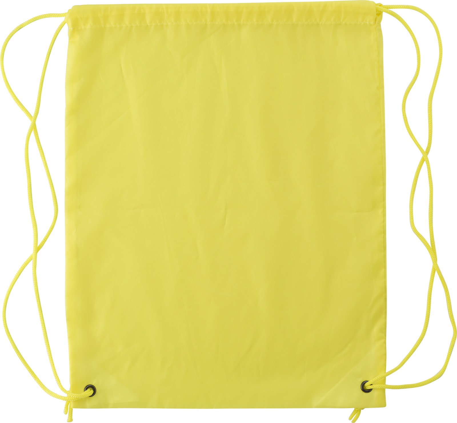 Polyester (190T) drawstring backpack - Yellow