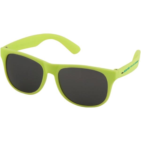 Jednobarevné sluneční brýle Retro - Neonově Žlutá
