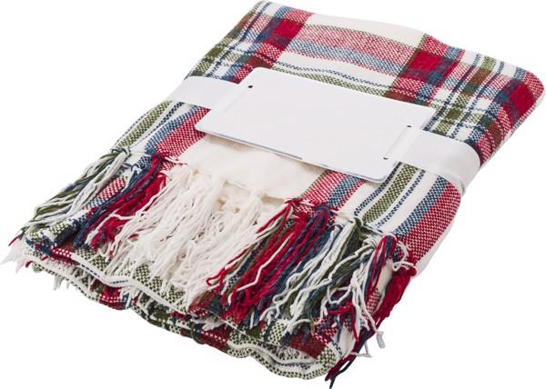 Polyester chenille (285 gr/m²) blanket - Red