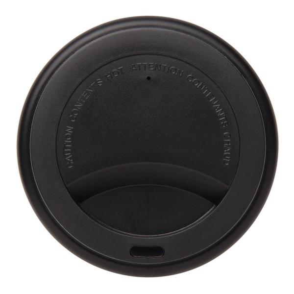 Többször használatos, duplafalú kávésbögre 300 ml - Fekete