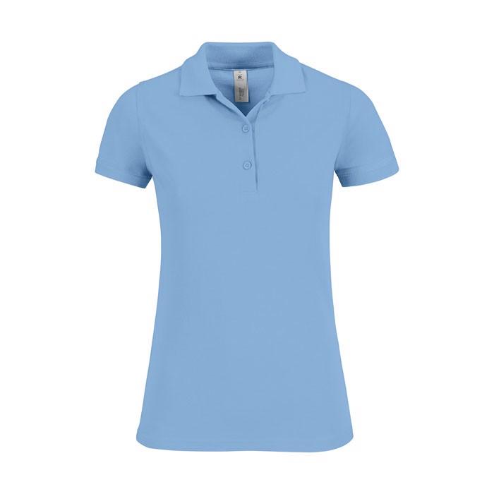 Damen Polo Shirt 180 g/m2 Safran Timeless Women - Sky Blue / L