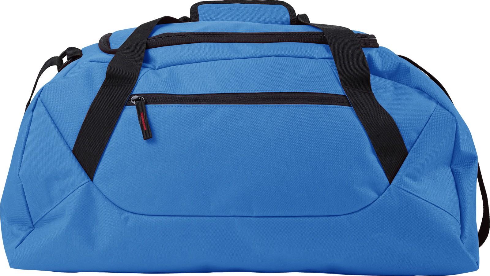 Polyester (600D) sports bag - Blue