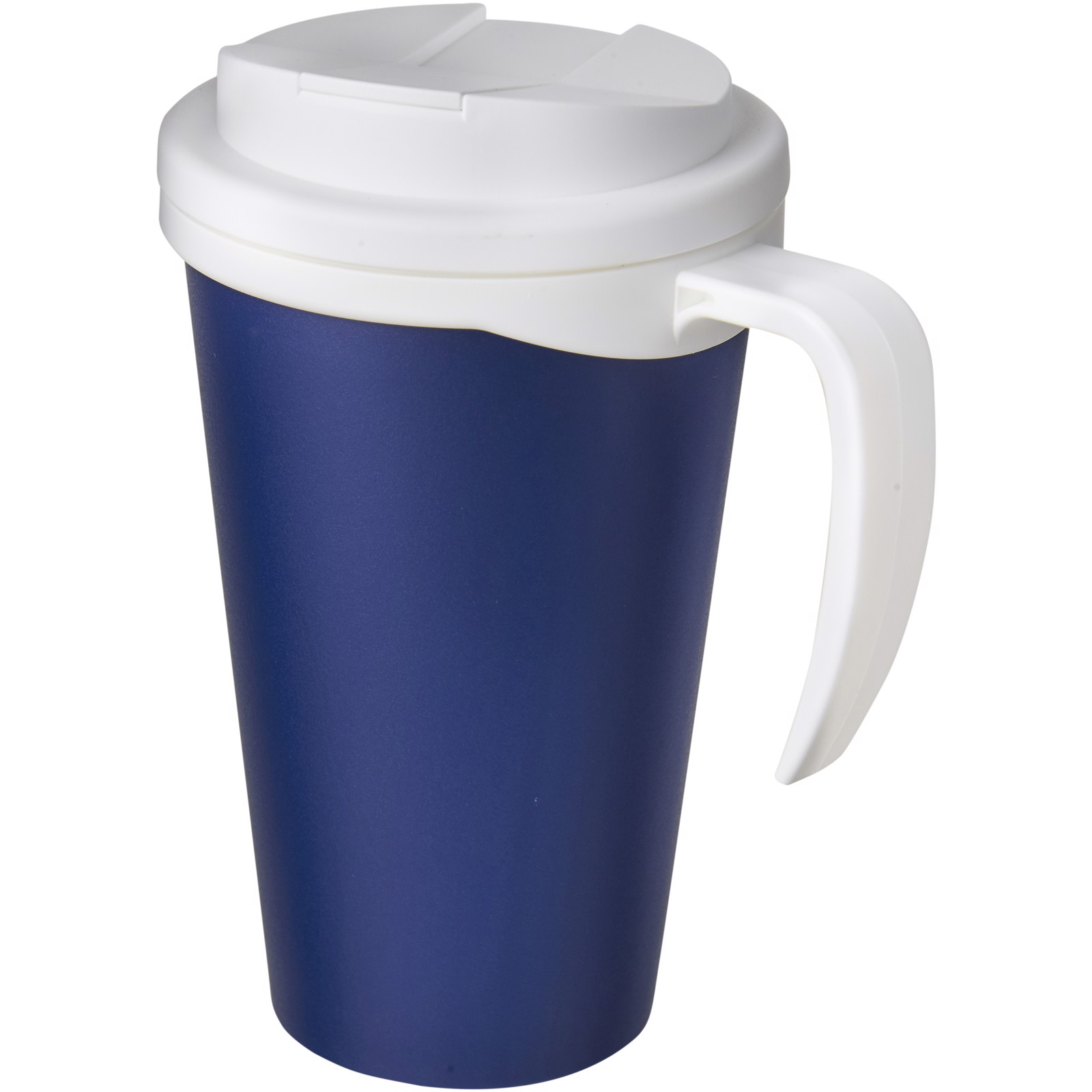 Americano Grande 350 ml mug with spill-proof lid - Blue / White