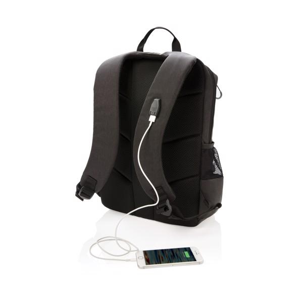 "RFID USB batoh Lima na 15,6"" notebook - Černá / Šedá"