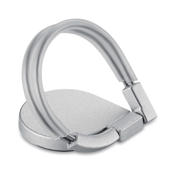 Car mount ring phone holder Drop Ring Lux - Silver
