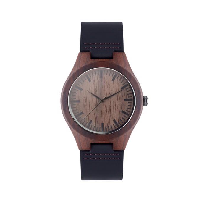 Zegarek ze skóry Sion - brązowy