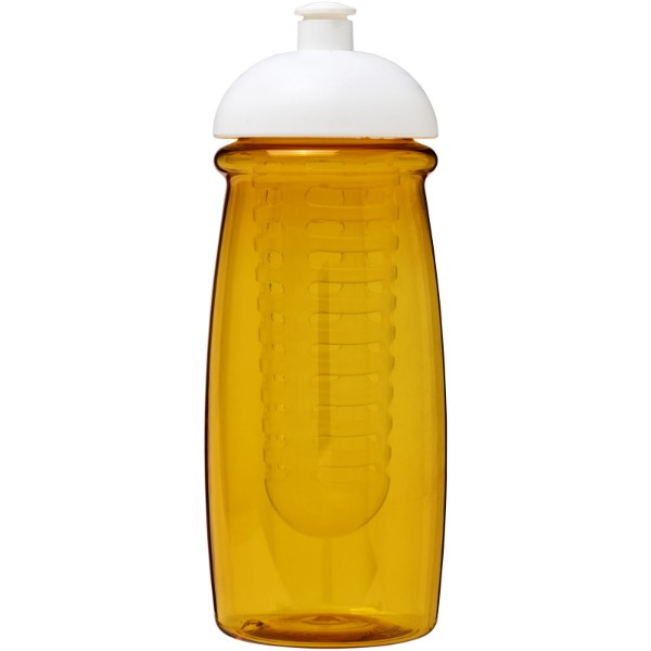 H2O Pulse® 600 ml dome lid sport bottle & infuser - Yellow / White