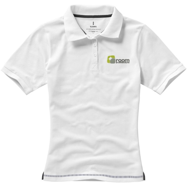 Calgary short sleeve women's polo - White / Navy / XL