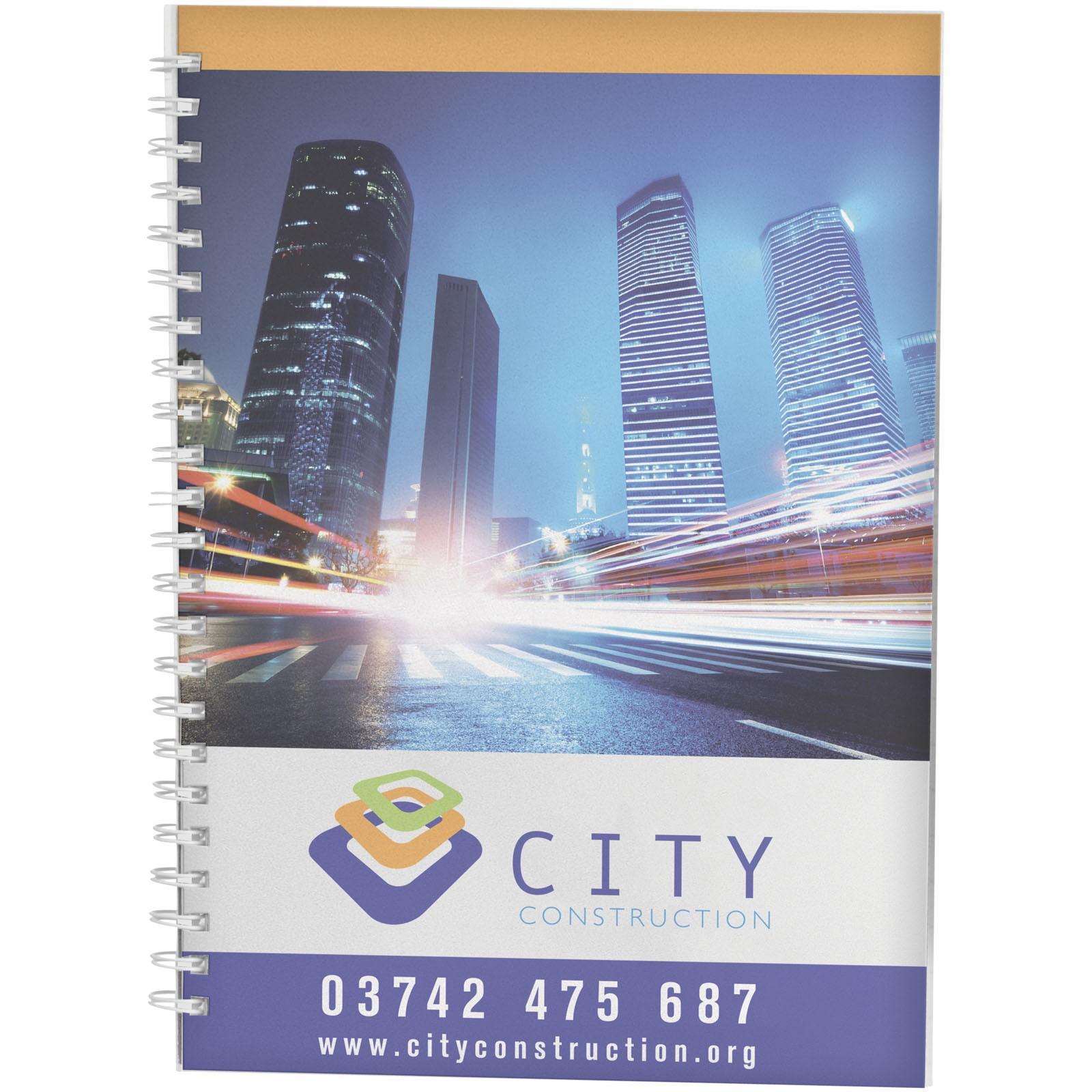 PP obal poznámkového bloku Desk-Mate® wire-o A4 - Bílá / 50 pages