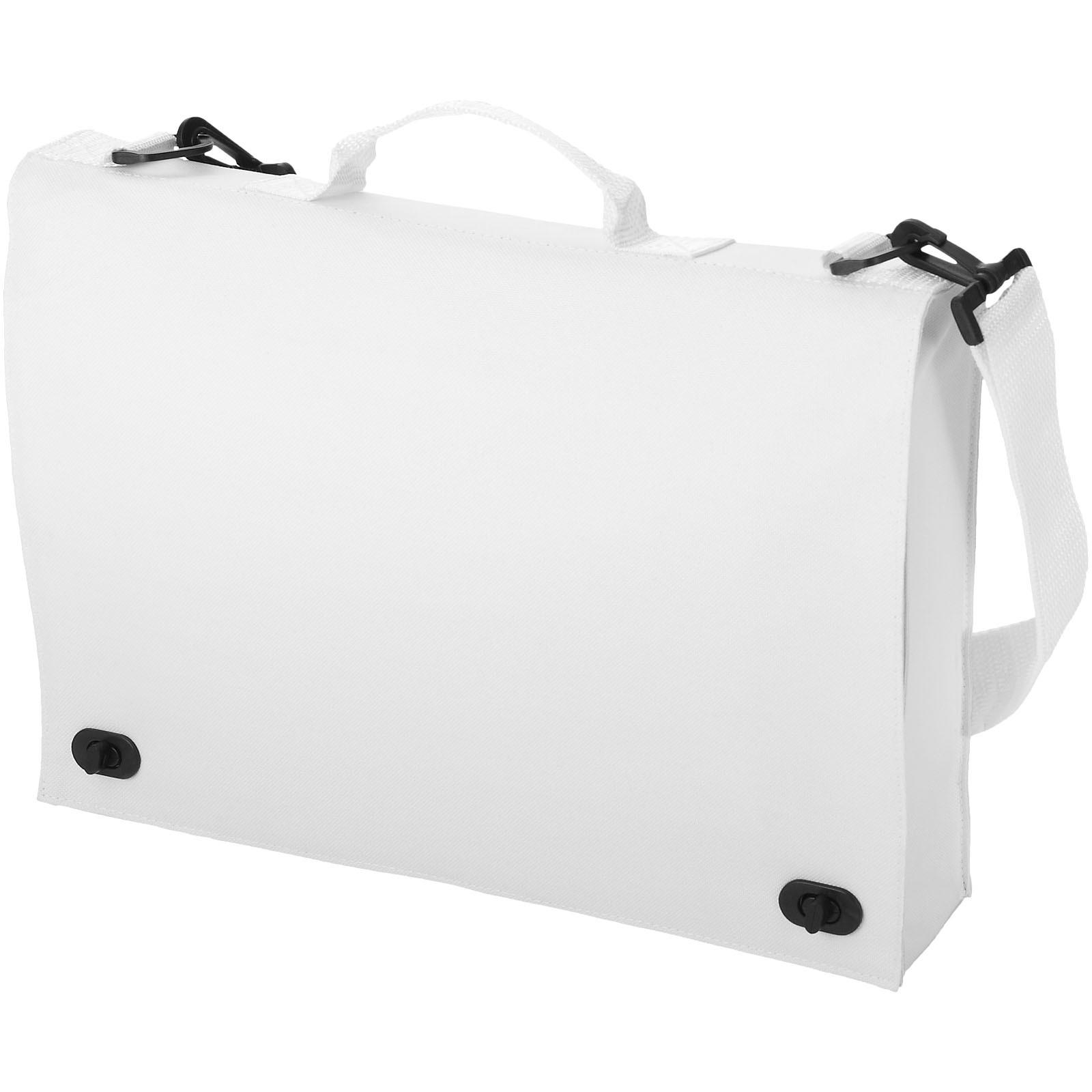 Santa Fe 2-buckle closure conference bag - White