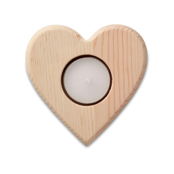 Heart shaped candle holder Teaheart