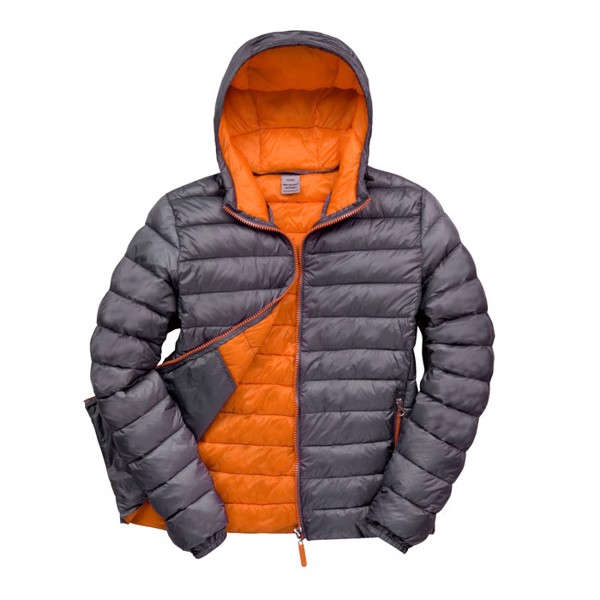 Men's Winter Jacket Snow Bird Hooded Jacket R194m - Grey / M