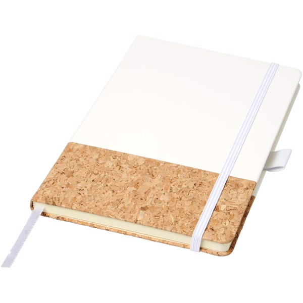 Evora A5 cork thermo PU notebook - White