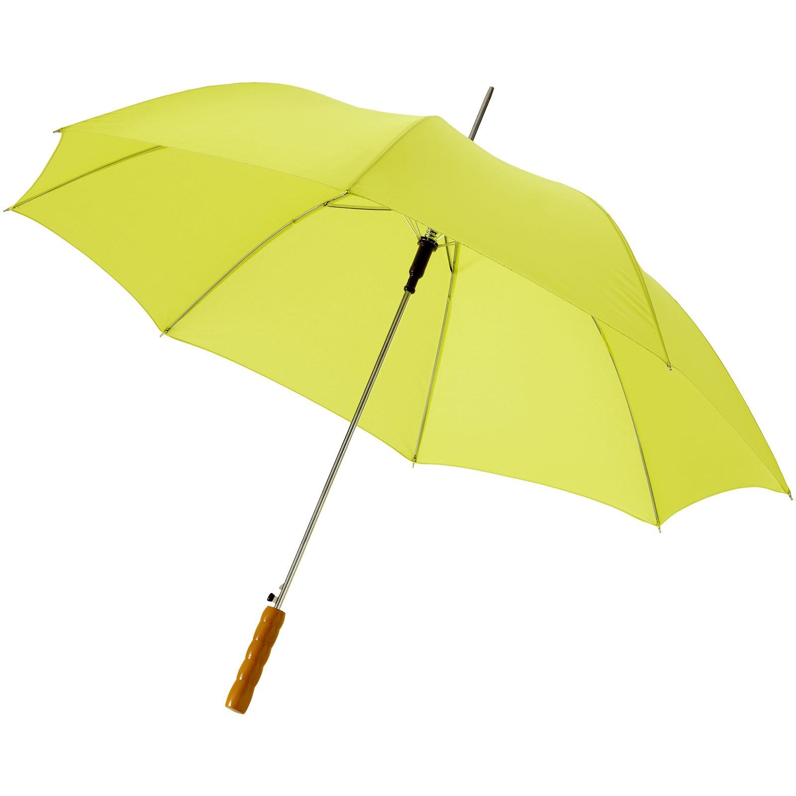 """23"""" deštník Lisa s automatickým otvíráním a dřevěnou rukojetí - Neonově Zelená"""