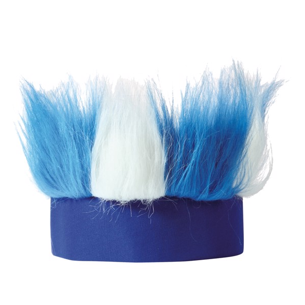 "Sweat Band ""Hairy"" - White / Blue"
