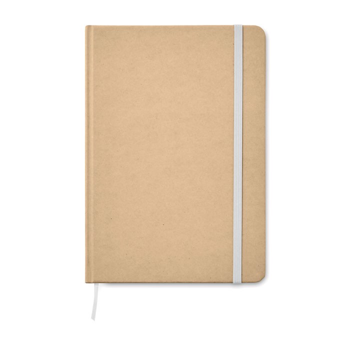 A5 zápisník v recykl. kartonu Everwrite - white