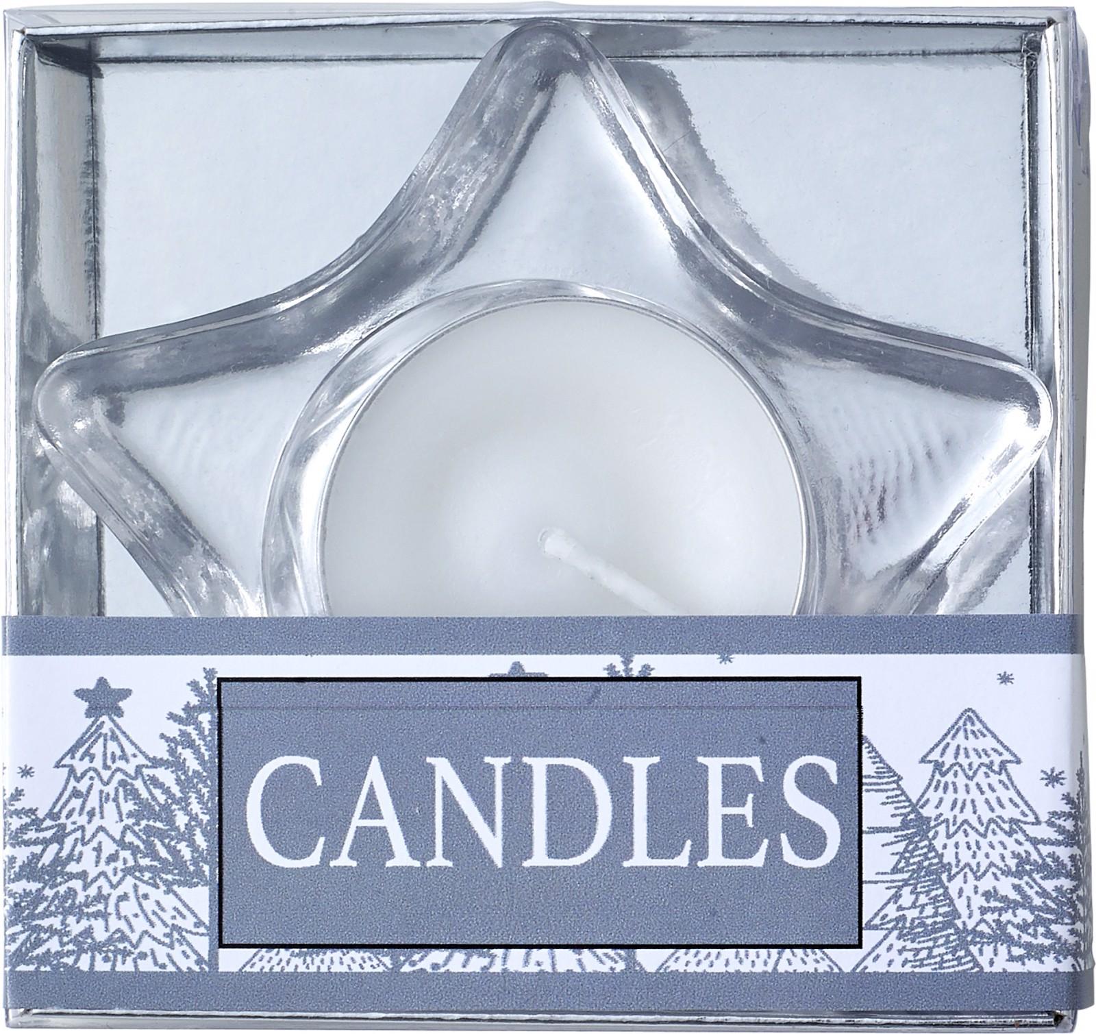 Glass tea light holder - Silver