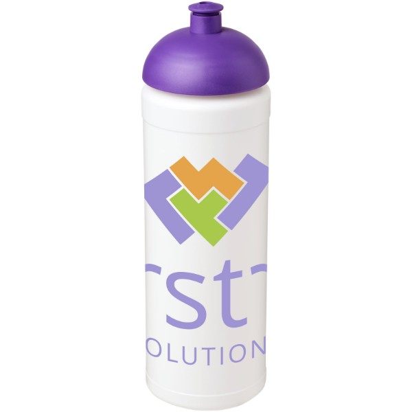 Sportovní láhev s kupolovitým víčkem Baseline® Plus grip 750 ml - Bílá / Purpurová