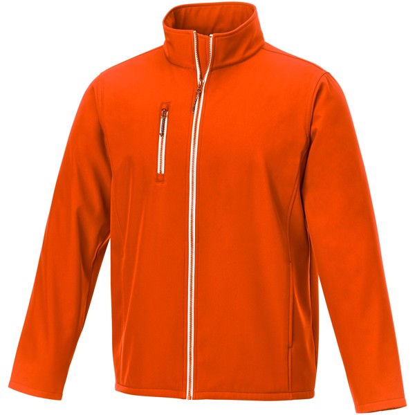 Orion men's softshell jacket - Orange / 3XL