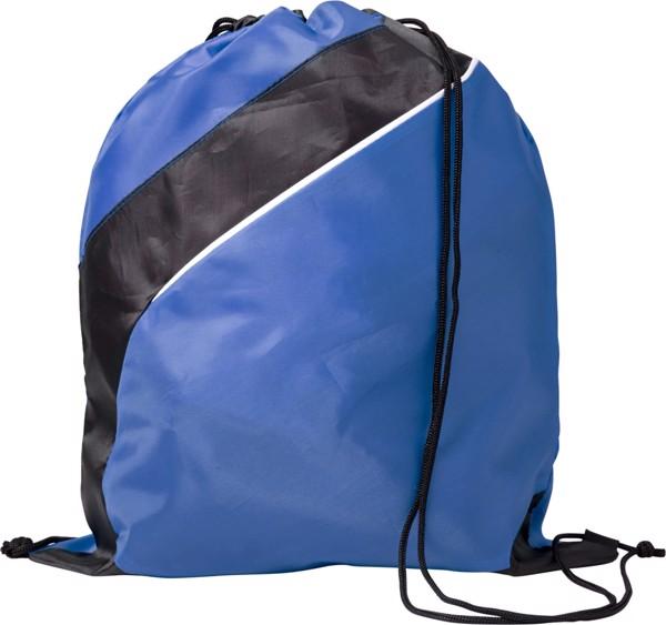 Polyester (210D) drawstring backpack - Cobalt Blue