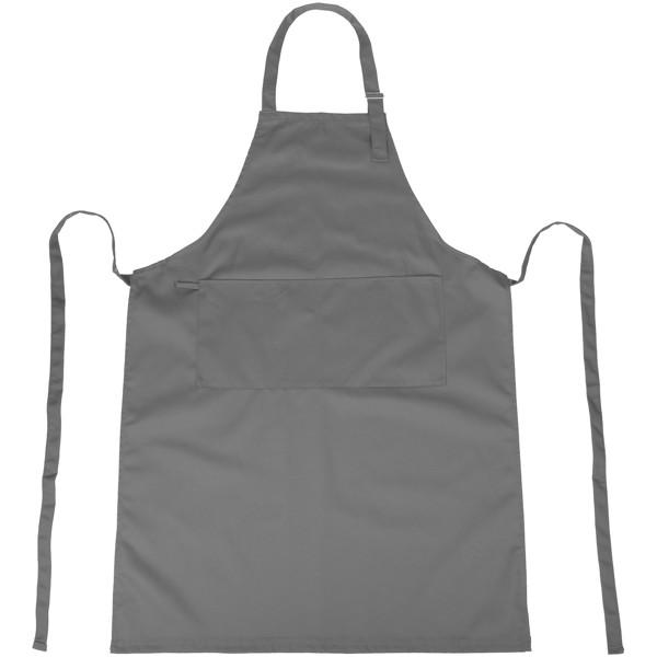 Zora apron with adjustable neck strap - Grey