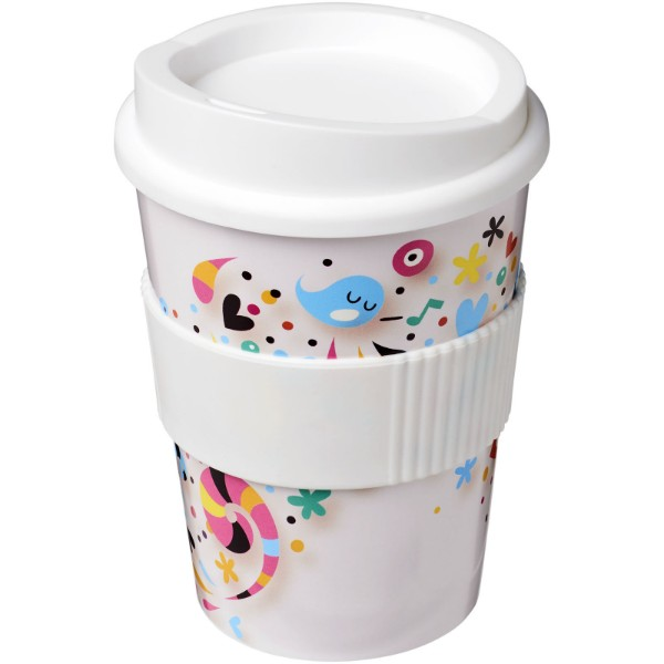 Brite-Americano® Medio 300 ml tumbler with grip - White