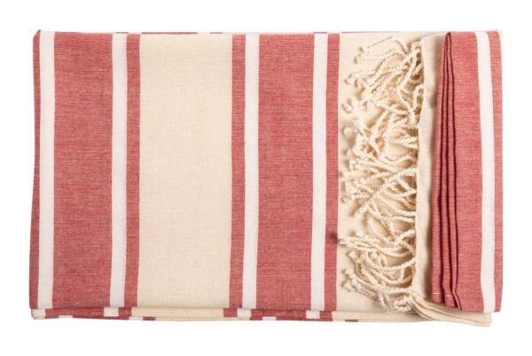 Beach Towel Yistal - Red / Natural
