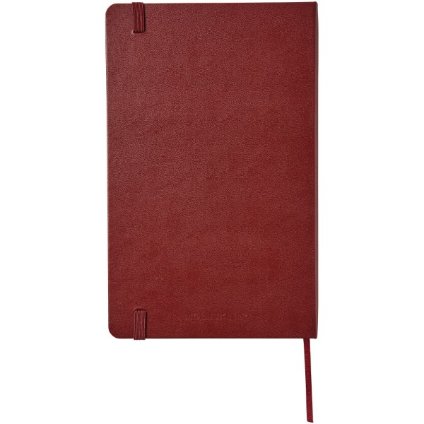 Classic L hard cover notebook - ruled - Amaranth Red