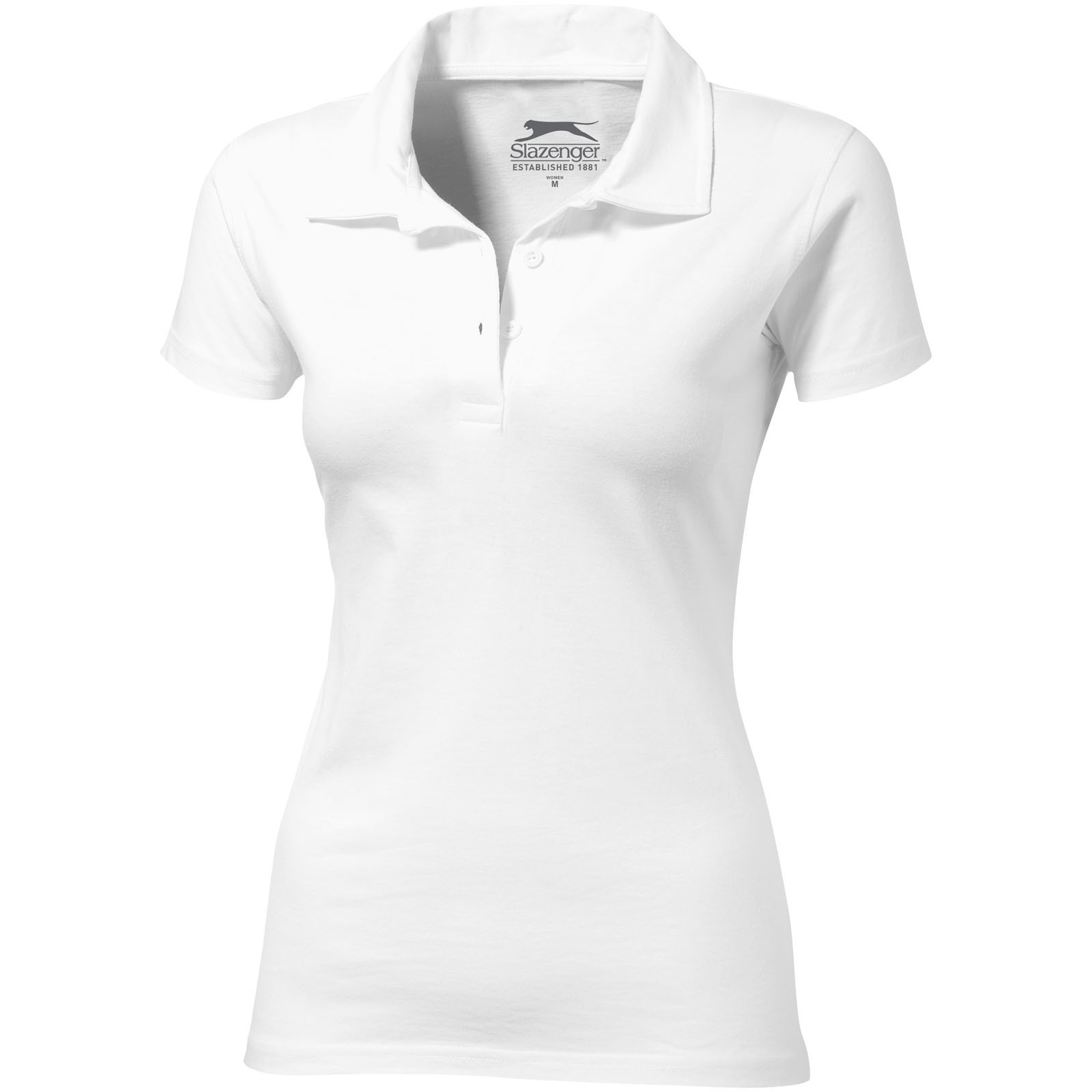 Let short sleeve women's jersey polo - White / S