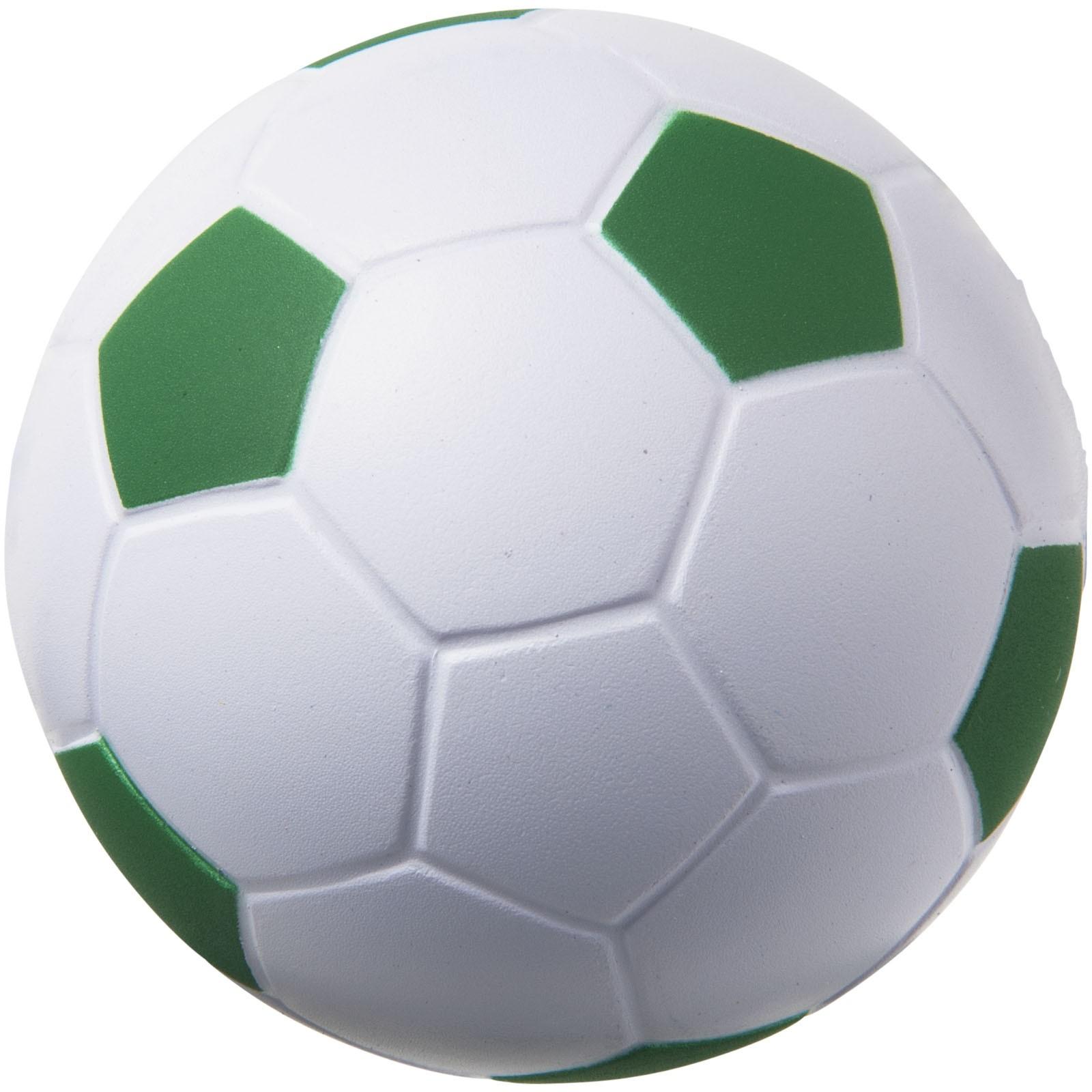 Antistresový míč Football - Zelená / Bílá