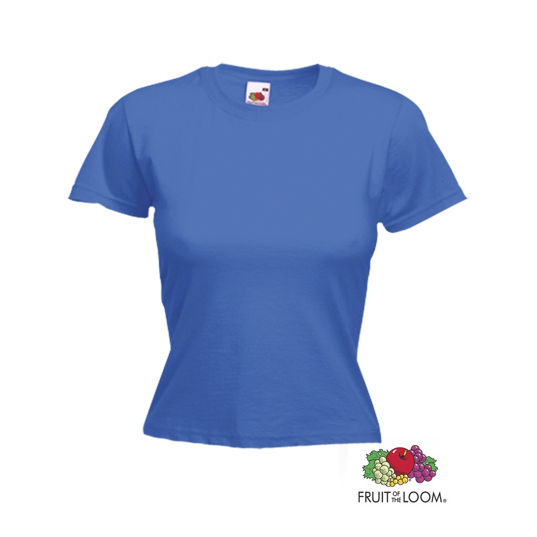 Camiseta Mujer Color Valueweight - Azul / XS