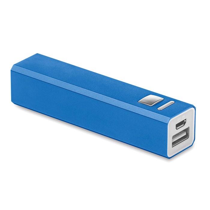 Powerbank w aluminium Poweralu - niebieski