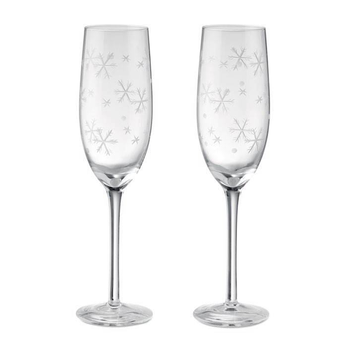 Set of 2 champagne glasses Cheers
