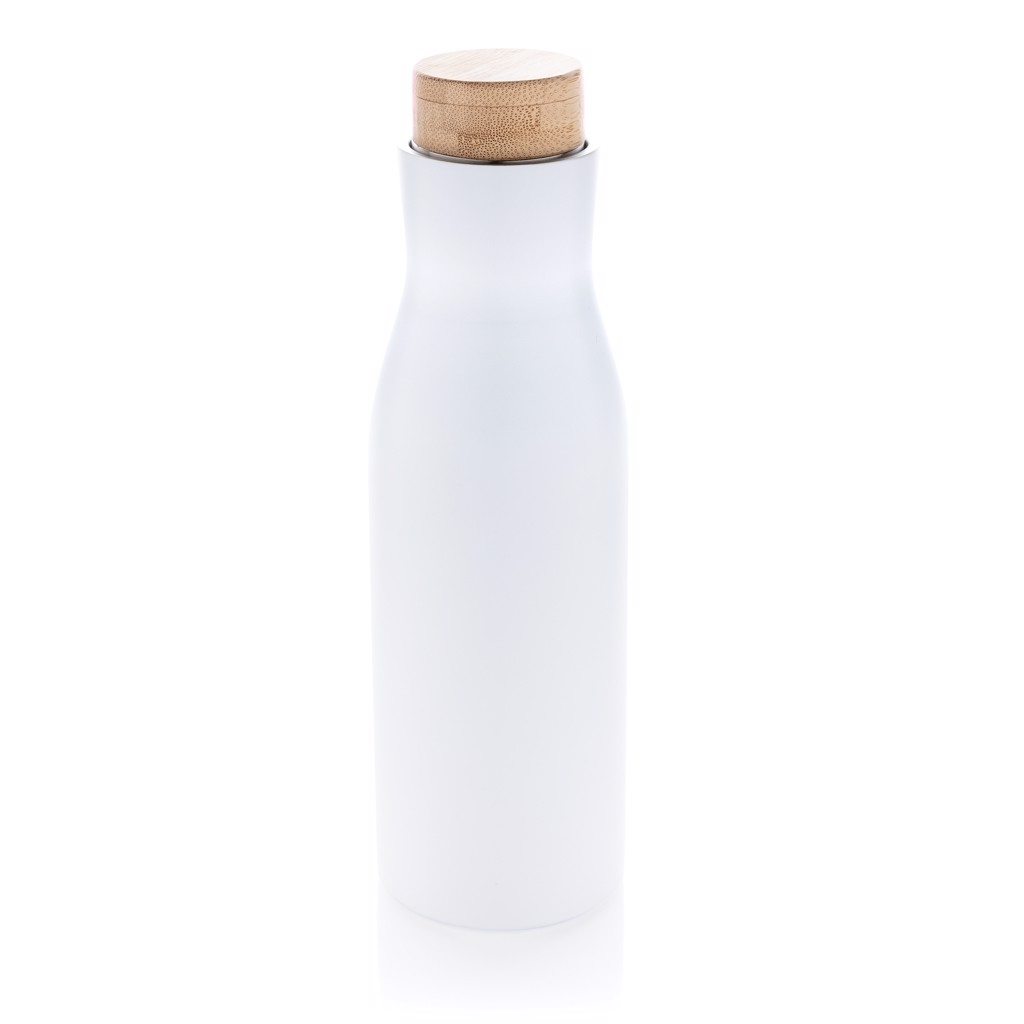 Clima leakproof vacuum bottle with steel lid - White