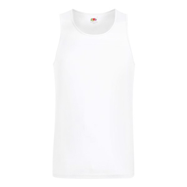 Men's T-Shirt Sports Performance Vest 61-416-0 - White / XXL