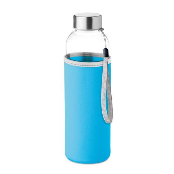 Botella de cristal con neopr. Utah Glass - turquesa