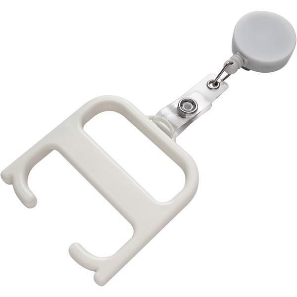 Hygienegriff mit Rollerclip - weiss