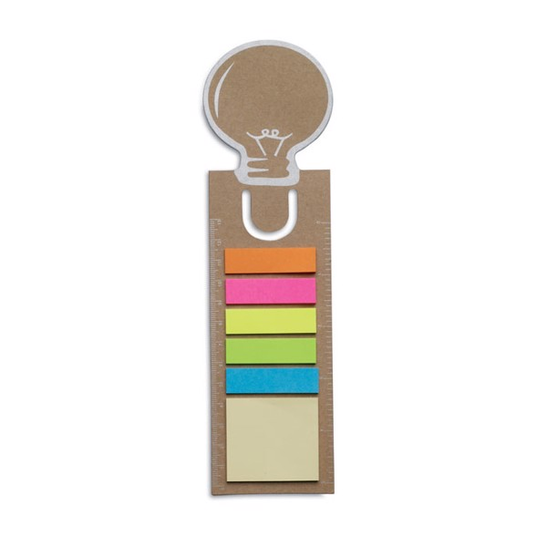 Bookmark with memo stickers Idea