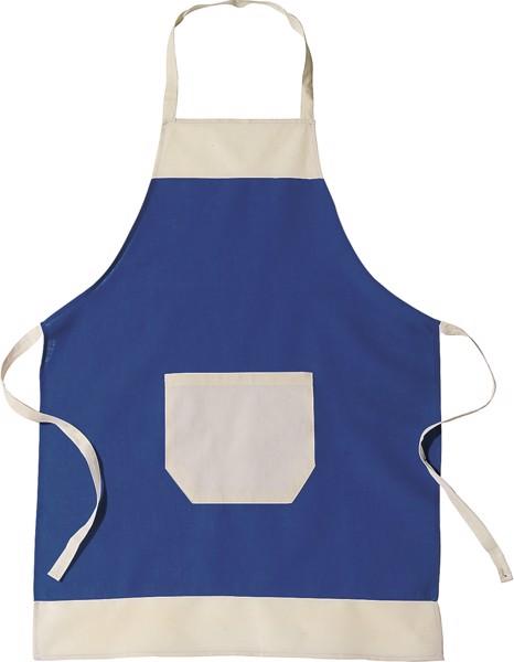 Cotton (145 gr/m²) apron - Blue