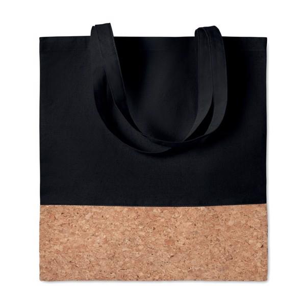 Einkaufstasche mit Korkbesatz Illa Tote - schwarz