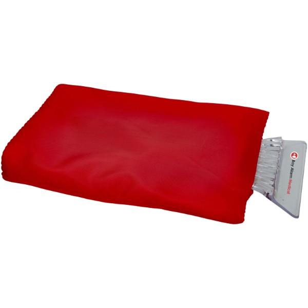 Škrabka na led Colt s rukavicí - Červená s efektem námrazy