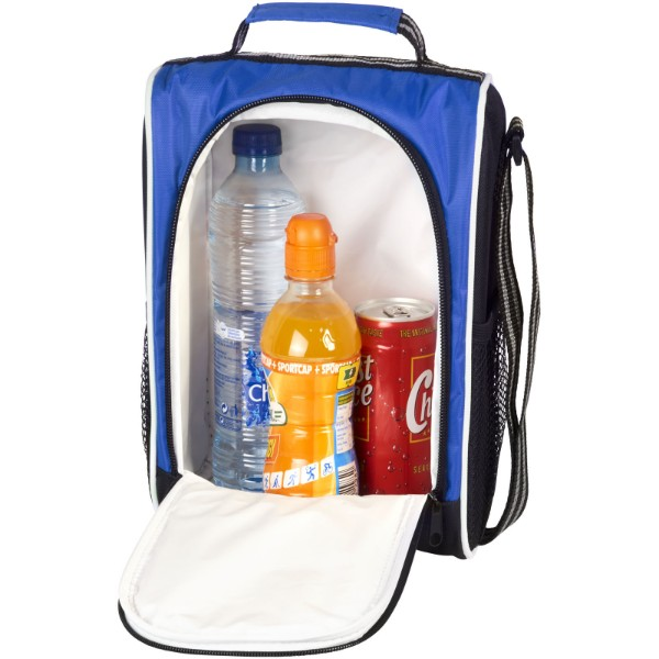 Sporty insulated lunch cooler bag - Royal blue / Solid black