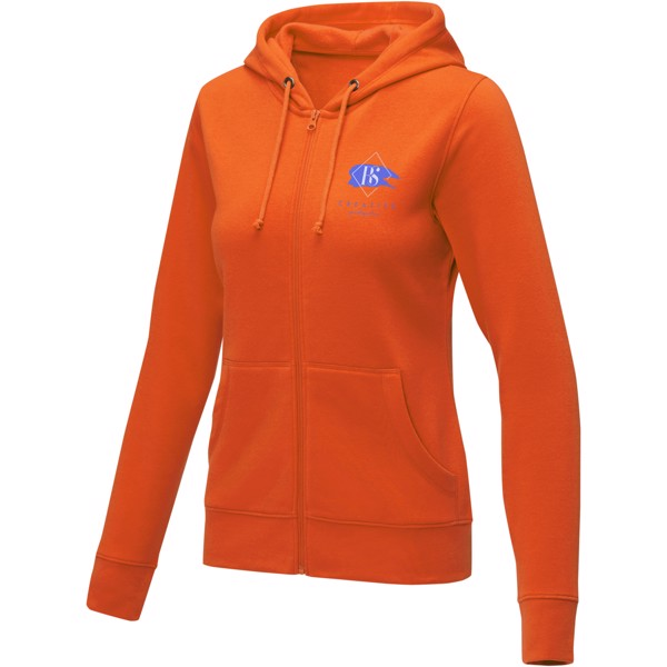 Theron women's full zip hoodie - Orange / S
