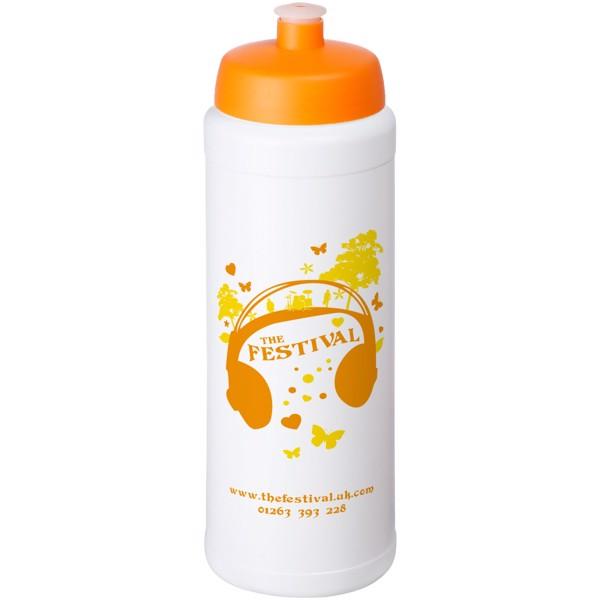 Baseline® Plus grip 750 ml sports lid sport bottle - White / Orange