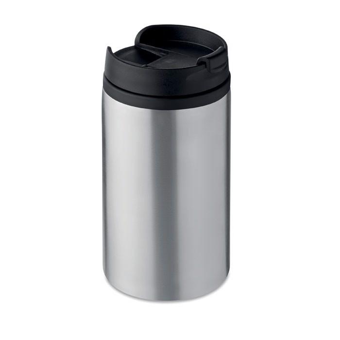 Double wall cup 250 ml Falun - Matt Silver