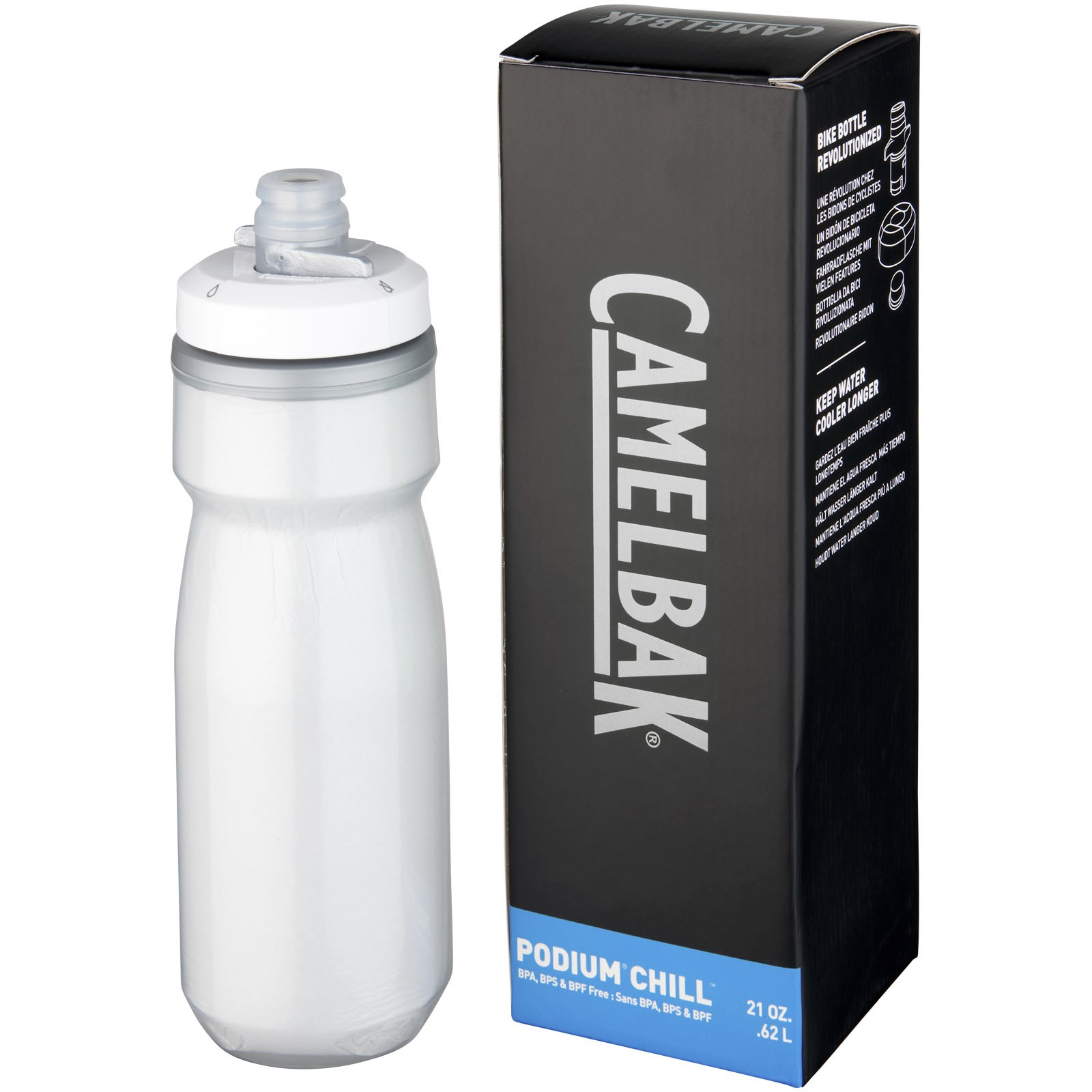 Podium Chill 620 ml sport bottle - White